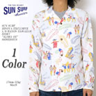 SUN SURF HINOYA EXCLUSIVE L/S RAYON HAWAIIAN SHIRT