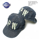 BUZZ RICKSON'S BLACK ARMY DENIM CAP