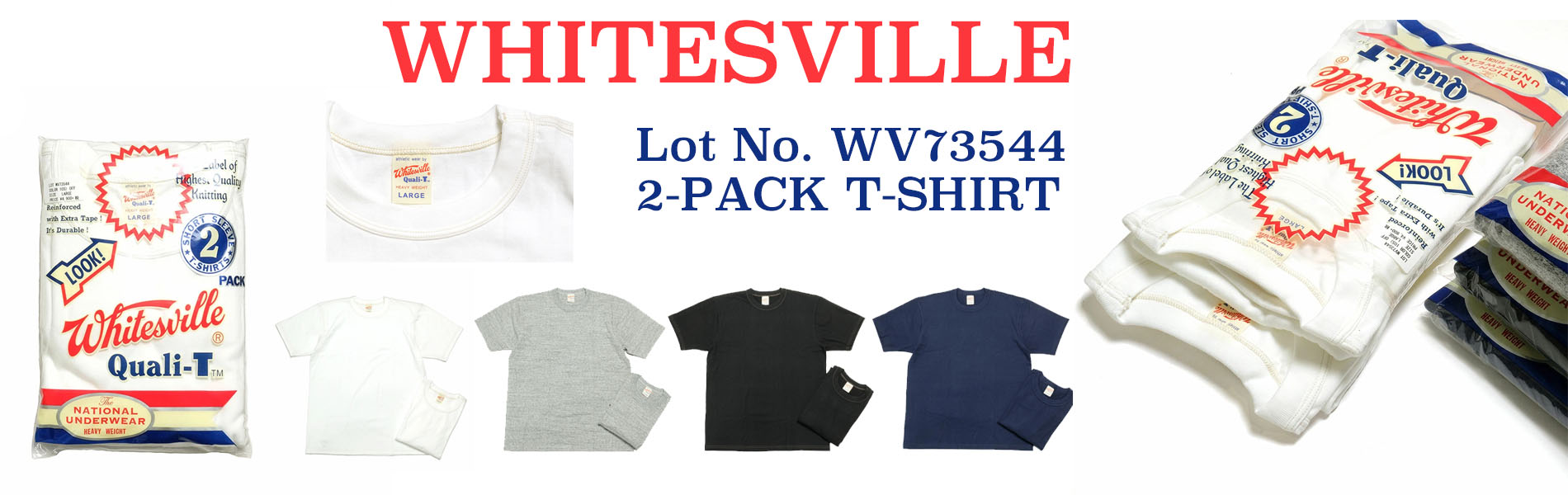 WHITESVILLE 2-PACK T-SHIRT WV73544